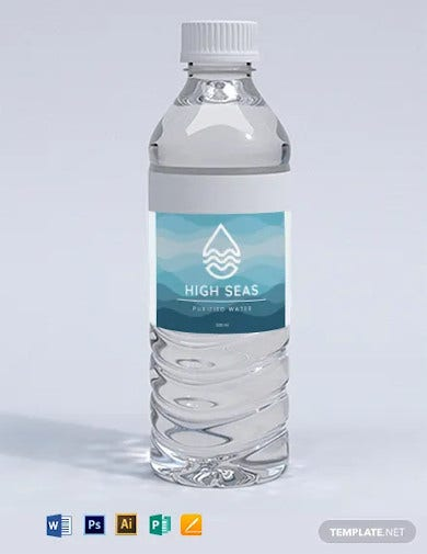 water bottle label template1