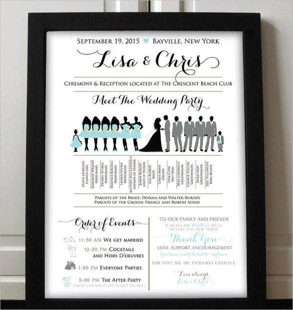 wedding-party-program-template