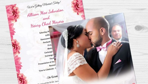 72 Wedding Program Template Free Word Pdf Psd Documents
