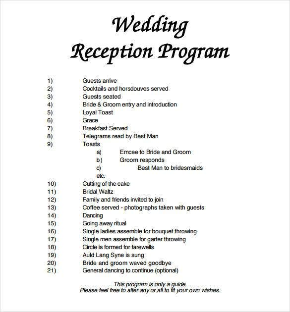 67 Wedding Program Template Free Word Pdf Psd Documents