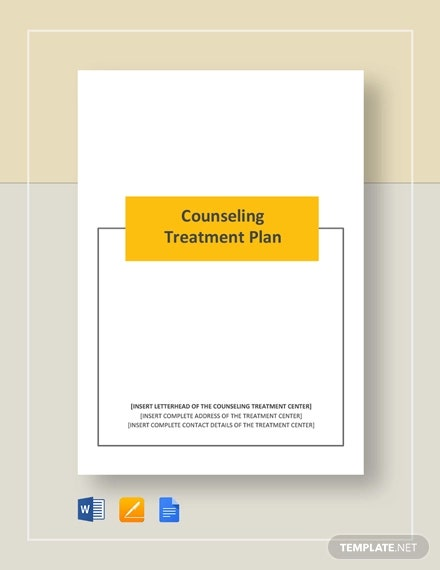 counselling treatment plan
