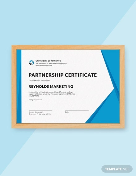 free business certificate design