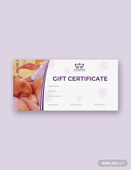free massage certificate