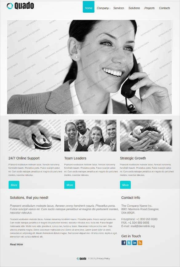 jquery javascript animation website template1