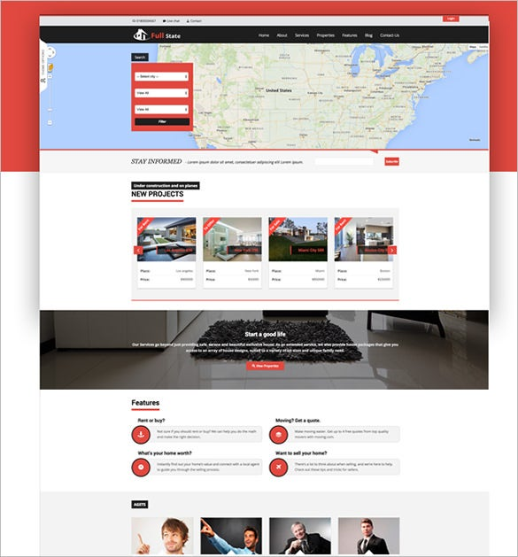 real estate php theme download