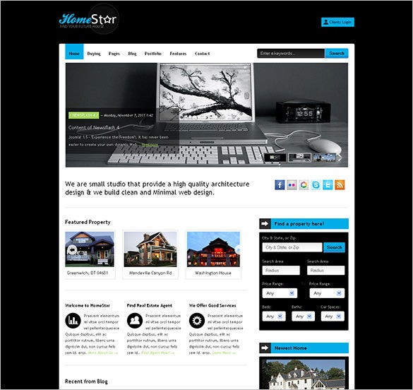 real estate business php template