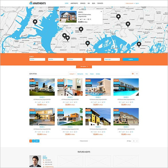 apartments rent agency php theme