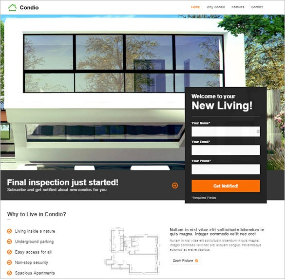 single property real estate php theme