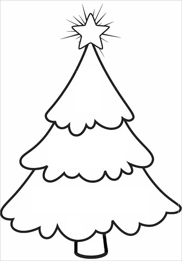 This Is Another Type Of Special Christmas Tree For Your Little One. You Can  Print This Blank Christmas Tree Template And Color It. Children Will Love  These ...  Blank Christmas Templates