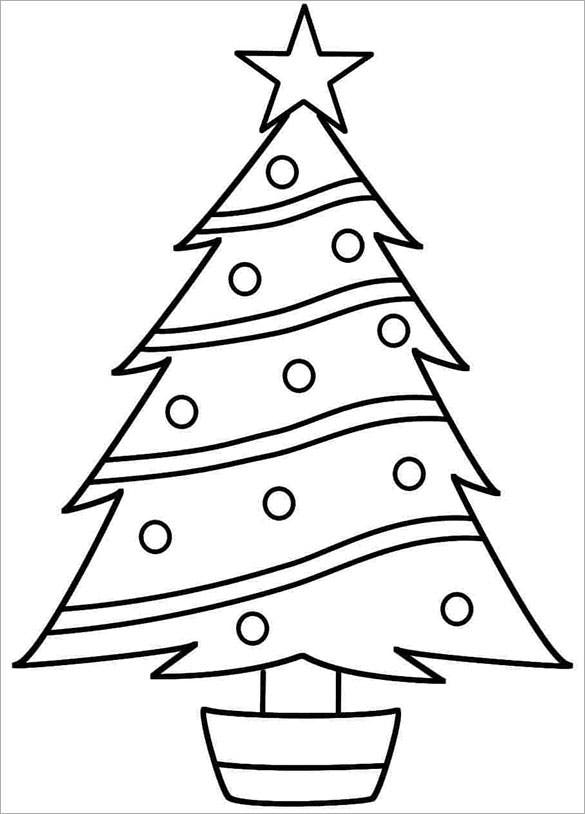 photo regarding Printable Christmas Tree Coloring Pages named 32+ Xmas Tree Templates - Cost-free Printable PSD, EPS, PNG