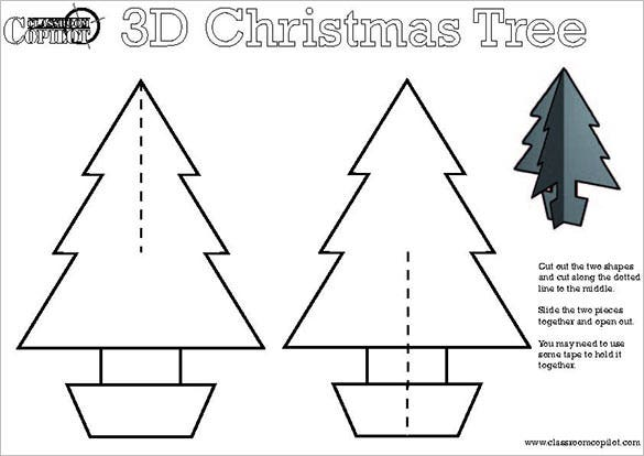 23 christmas tree templates free printable psd eps for Angel tree decoration template