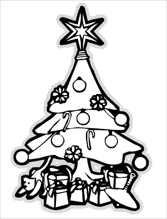 Free Printable Coloring Pages Christmas Tree