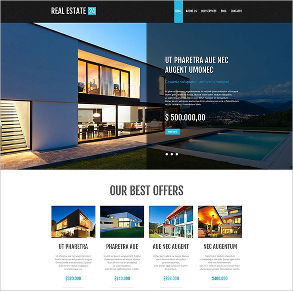 realtor services php theme download