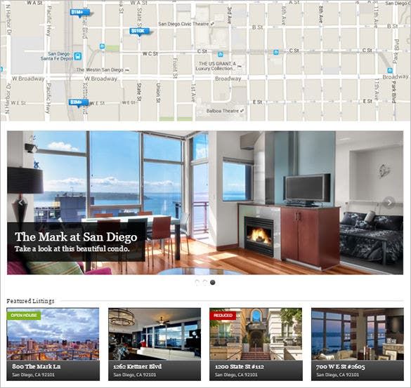 real estate responsive php theme