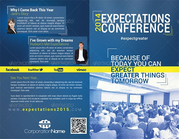 expectations conference bifold brochure