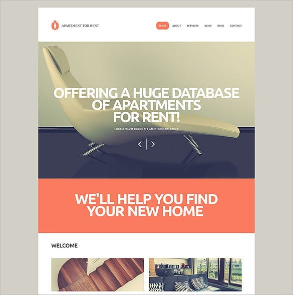 rental services php theme