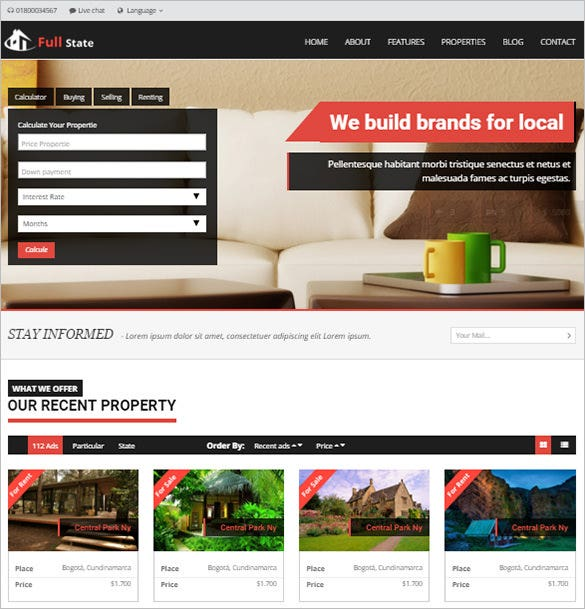 responsive php real estate theme