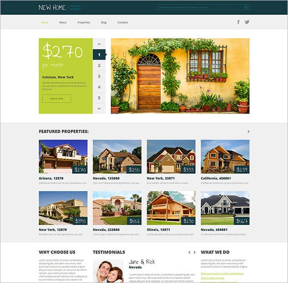 real estate agency php theme download