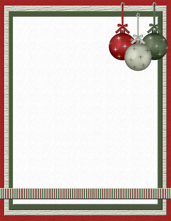christmas stationery template papers download