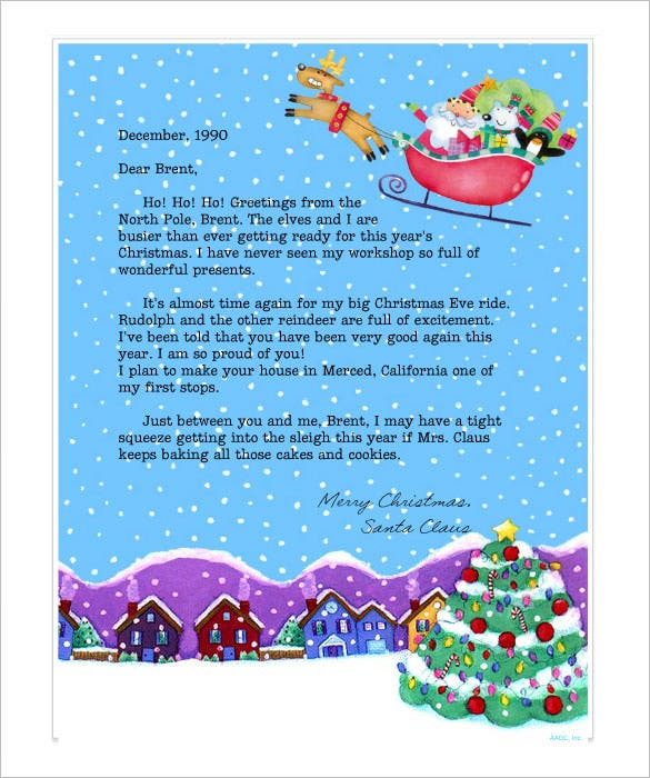 15+ Editable Word Document Letter From Santa Template Word You Will Like