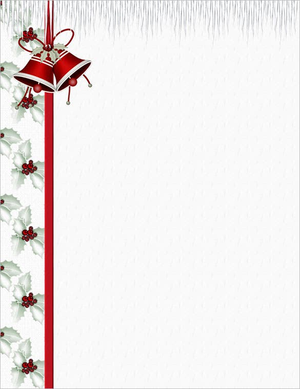 graphic relating to Free Printable Christmas Letterhead identified as 25+ Xmas Stationery Templates - Totally free PSD, EPS, AI
