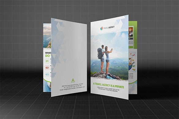 holiday travel agency bifold brochur