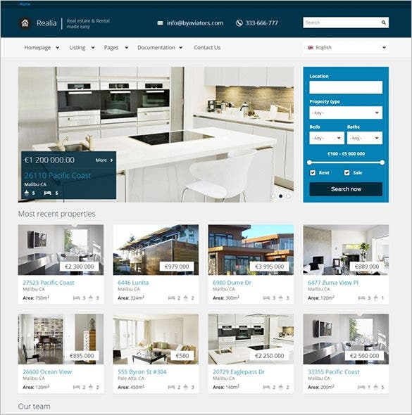 free drupal templates real estate