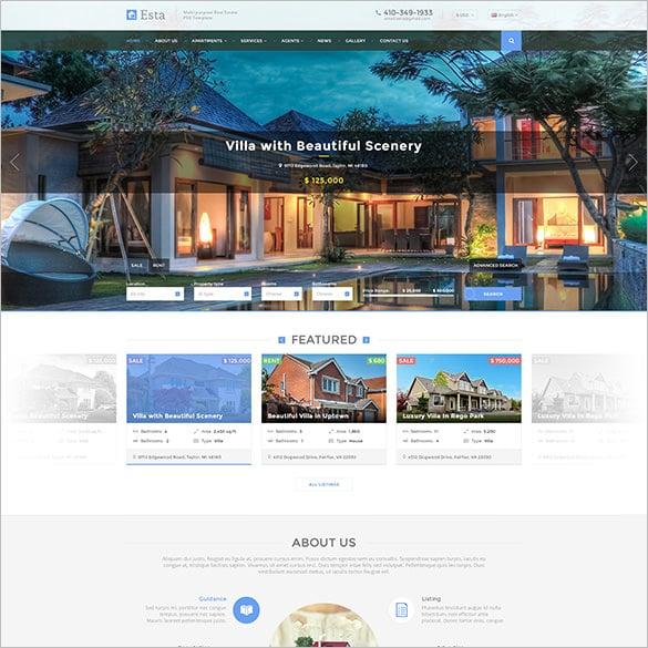 real estate drupal template download