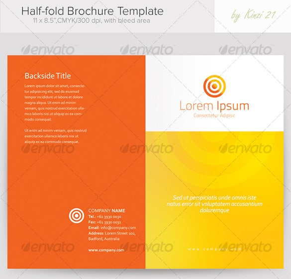 26+ Half Fold Brochure Templates – Free PSD, EPS, AI, InDesign ...