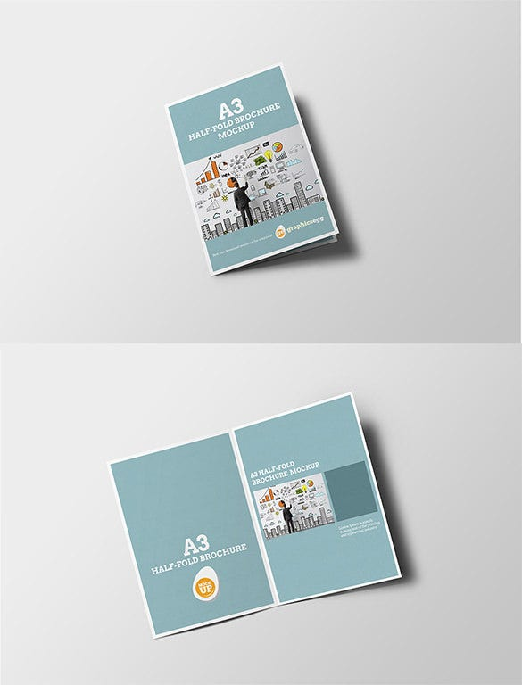Half Fold Brochure Templates  Free Psd Eps Ai Indesign