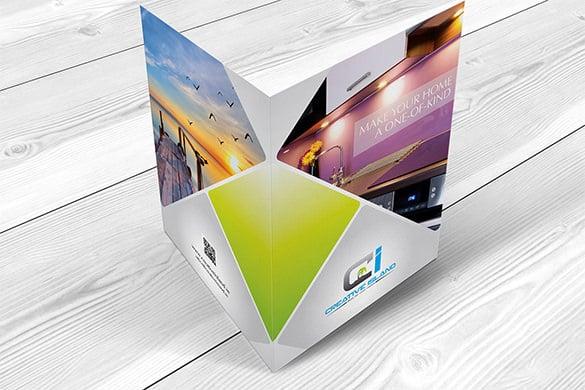 creativeisland half fold brochure