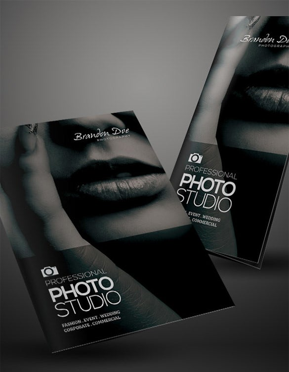 photography half fold and trifold brochures