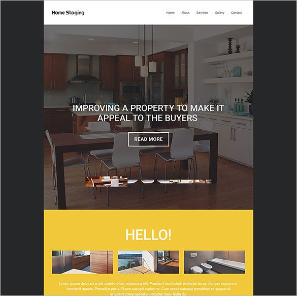home staging website template