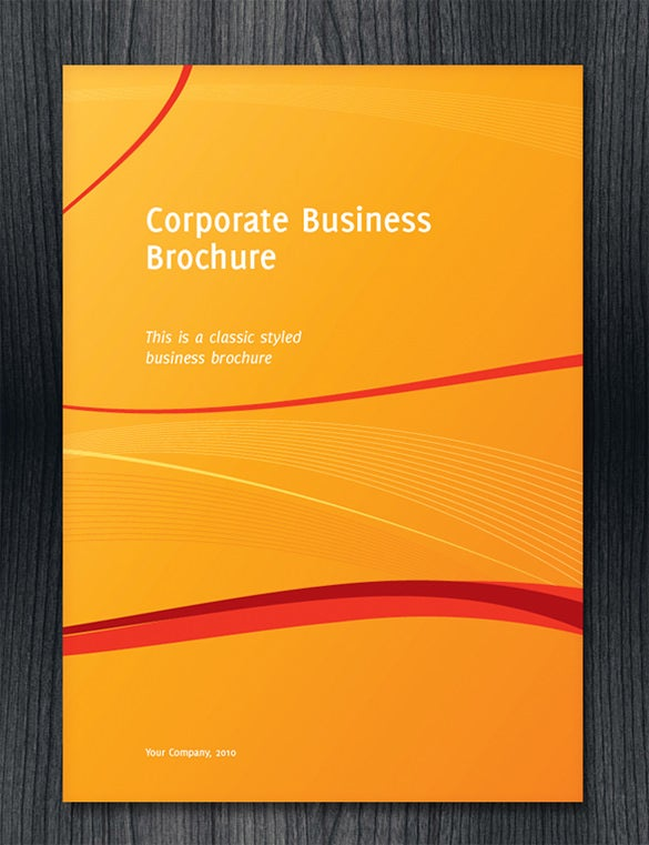 half fold corporate business brochure