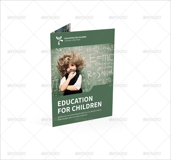 education bi fold half fold brochure