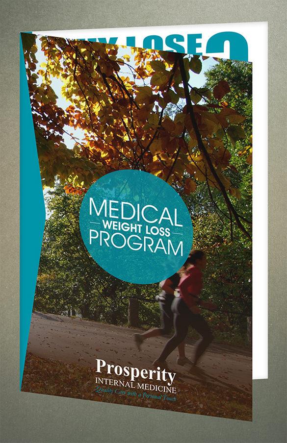 medical weight loss half fold brochure