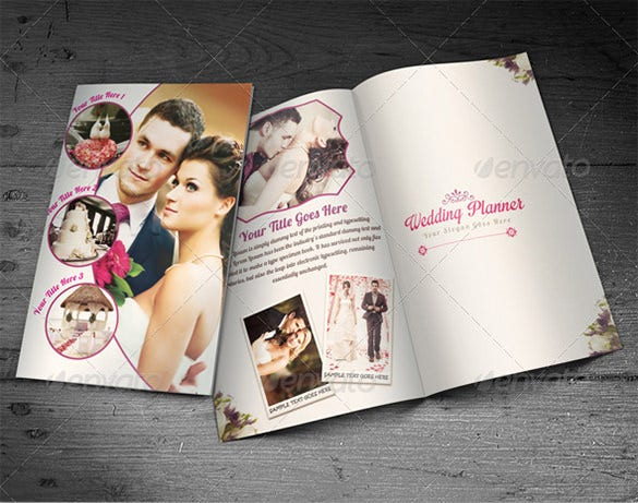 wedding planner half fold brochure templates