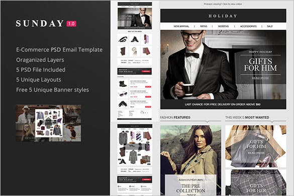 e commerce psd email newsletter template download