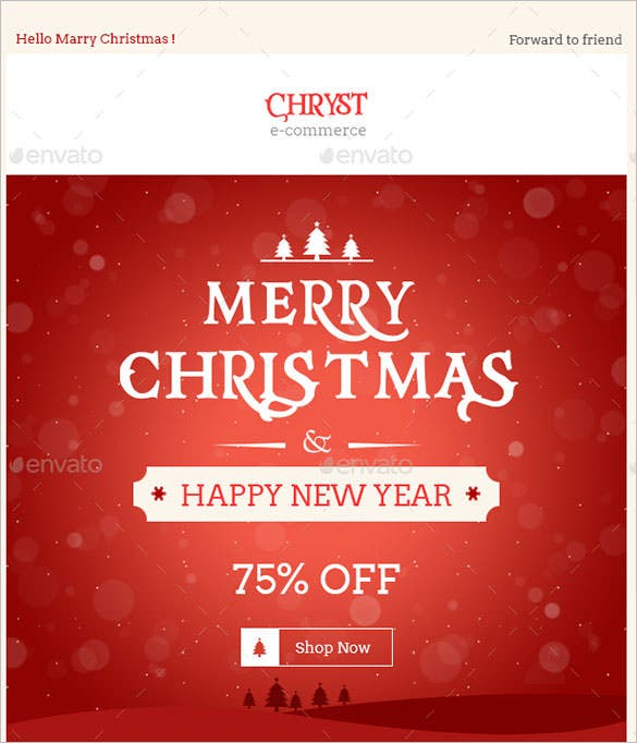 christmas shopping e commerce newsletter template psd design