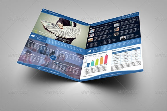 creative business market half fold brochure