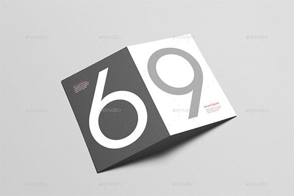 a6 bi fold half fold invitation brochure