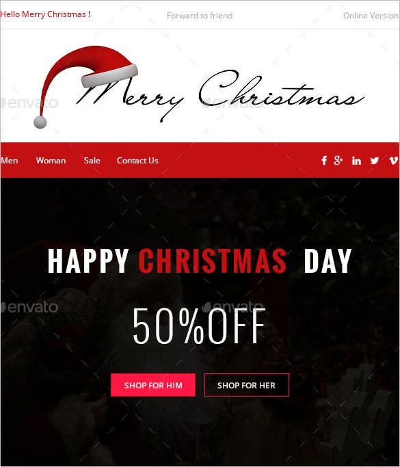 2 chryst christmas e commerce newsletter template psd