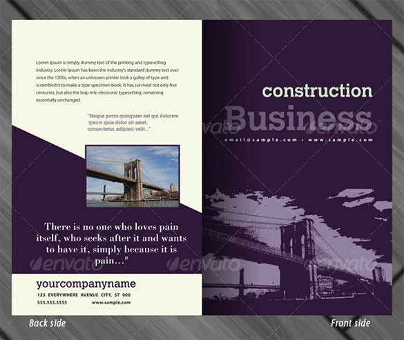 business half fold brochure