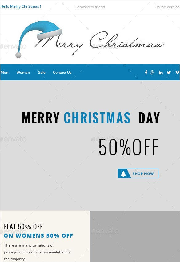 chryst christmas e commerce newsletter version psd download
