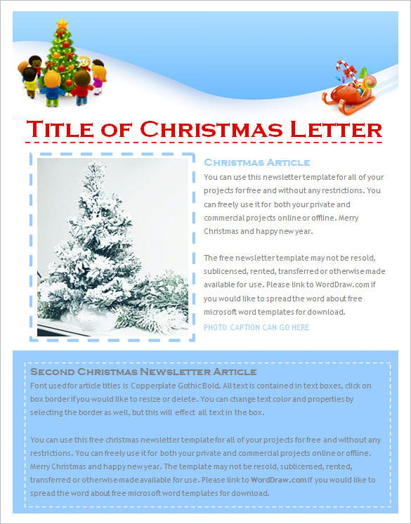 free newsletter templates downloads for word - 27 christmas newsletter templates free psd eps ai