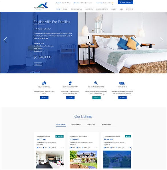 realty house real estate psd template