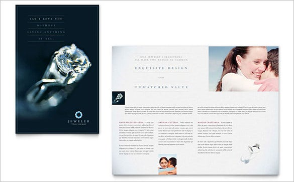 jeweler jewelry store brochure template