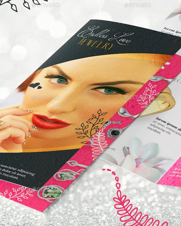 bi fold jewelry brochure template