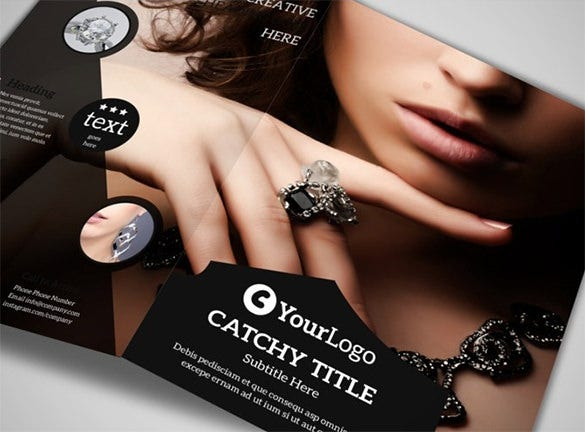 jeweler jewelry store brochure template 8