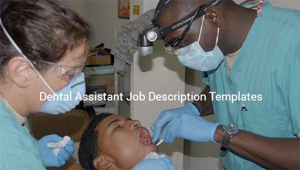 dental assistant job description template